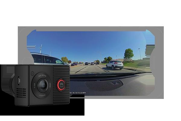 GARMIN | Cameră de bord cu obiectiv dublu de 180 de grade - Garmin Dash Cam™ Tandem 1