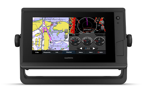 GPSMAP 722 Plus with Garmin Marine Network screen