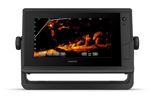 GPSMAP 722 Plus con schermata ecoscandaglio Panoptix