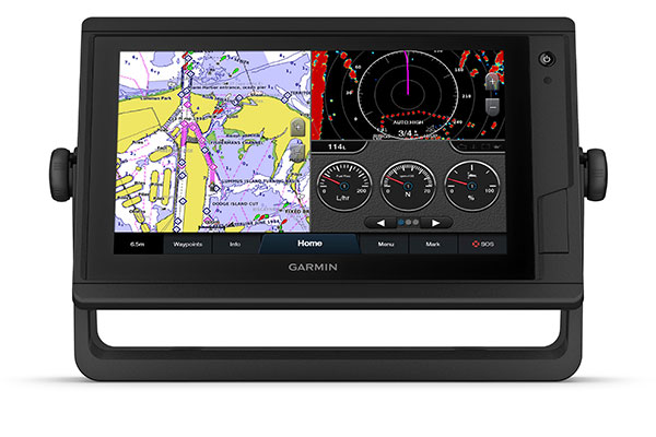GPSMAP 922 Plus with schermata Garmin Marine Network