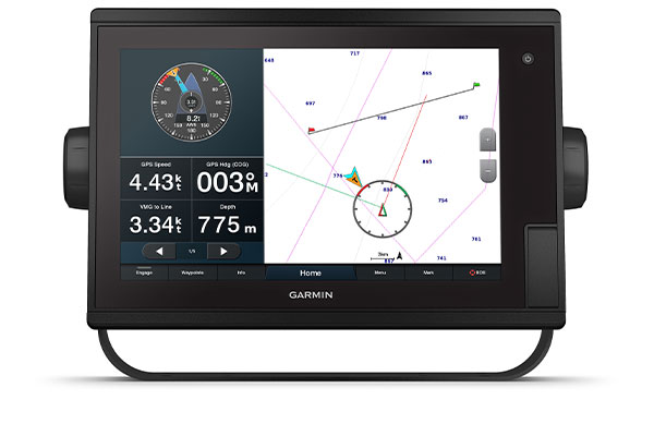 GPSMAP® 1222 Plus con schermata SailAssist