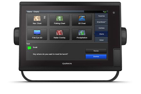 GPSMAP® 1222 Plus con schermata ActiveCaptain