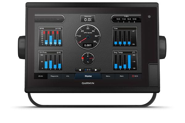 GPSMAP® 1222 Plus med anslutningsskärmen J1939