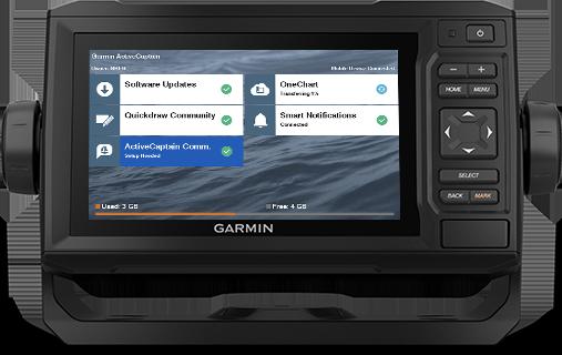 echoMAP UHD 62cv med ActiveCaptain-skärm