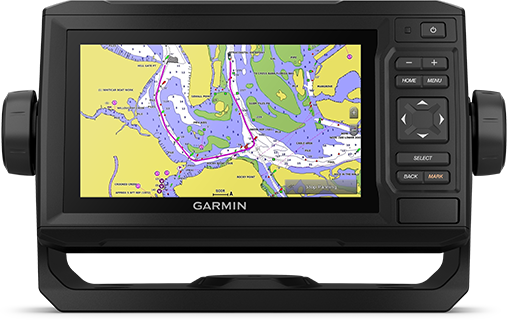ECHOMAP UHD 62cv z ekranem mapy morskiej