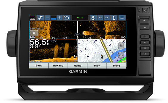 ECHOMAP UHD 75cv with trolling motor screen