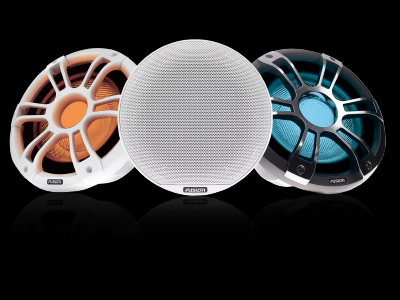 SG-FL652SPW Sports White 6.5-inch Marine Speakers with CRGBW LED Lighting Fusion Signature Series 3 a Garmin Brand
