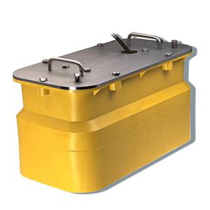 Transductor de montaje en el interior del casco de bronce con sensores de profundidad (8 patillas) - Airmar R199
