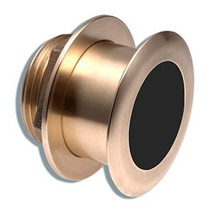Transductor de montaje a través del casco inclinado de bronce con sensores de profundidad y temperatura (inclinación de 20°, 8 patillas) - Airmar B164