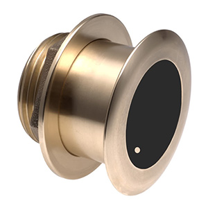 Bronze Tilted Thru-hull Transducer with Depth & Temperature (0° tilt) - Airmar B175H