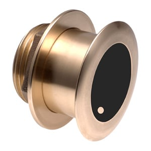 Bronze Tilted Thru-hull Transducer with Depth & Temperature (0° tilt, 8-pin) - Airmar B175L