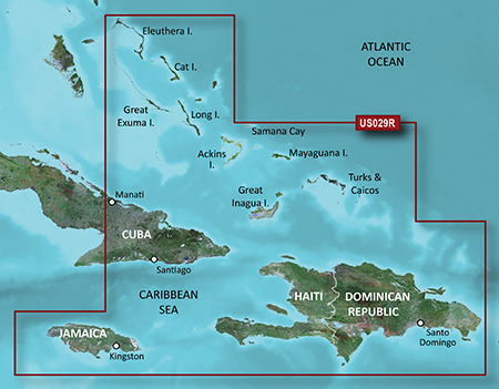 Carte Garmin Cuba.Southern Bahamas