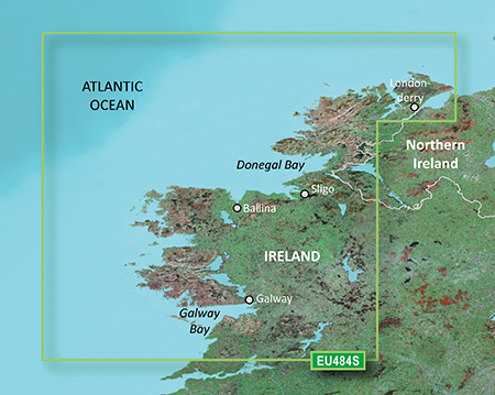 Map Of North West Ireland.Ireland North West