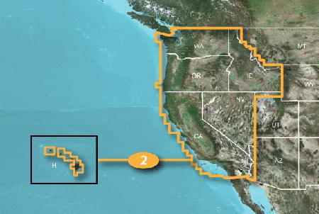Map Of California And Hawaii  Deboomfotografie