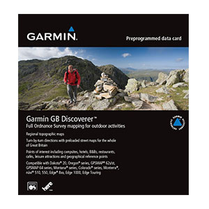 Garmin GB Discoverer 1:50K : couverture totale à l'échelle 1:50 000