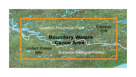 Topo Boundary Waters Garmin