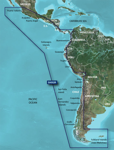 HSA002R  South America West Coast  Garmin