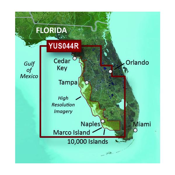 Map Of Florida Gulf.Yus044r Florida Gulf Coast Garmin