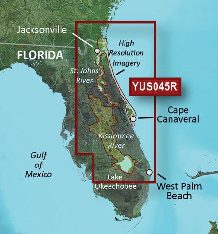 Map Florida East Coast.Yus045r Florida East Coast St Johns Kissimmee Garmin