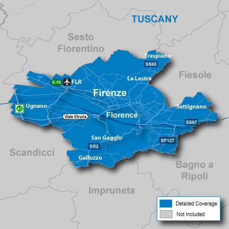 detailed map of italy with cities. Includes detailed road maps