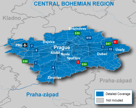 map of czech republic with cities. Includes detailed road maps