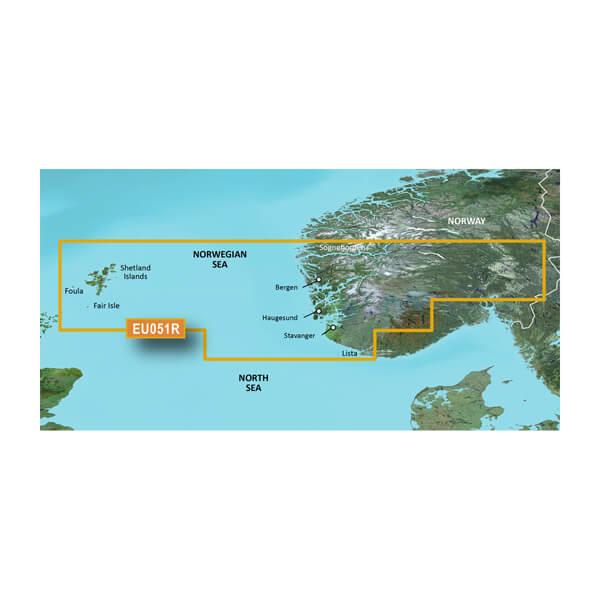 BlueChart® g3 HXEU051R - Lista - Sognefjorden