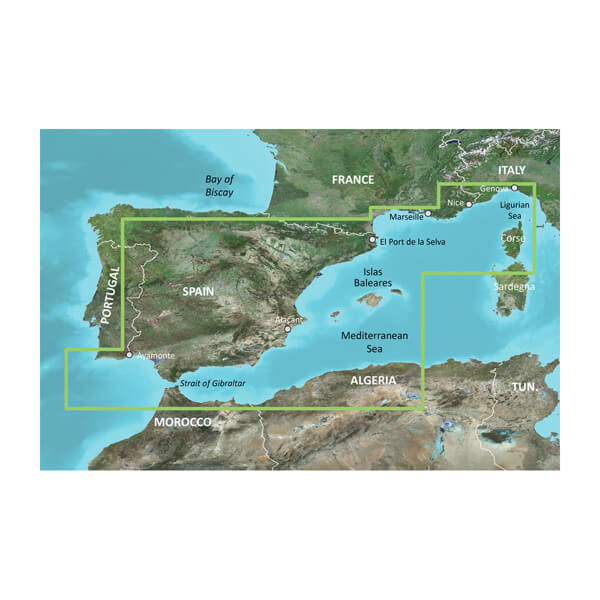BlueChart® g3 HXEU010R - Spain, Mediterranean Coast