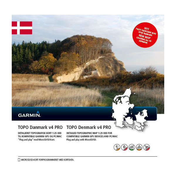 Garmin Topographic Map.Topo Denmark V4 Pro Garmin