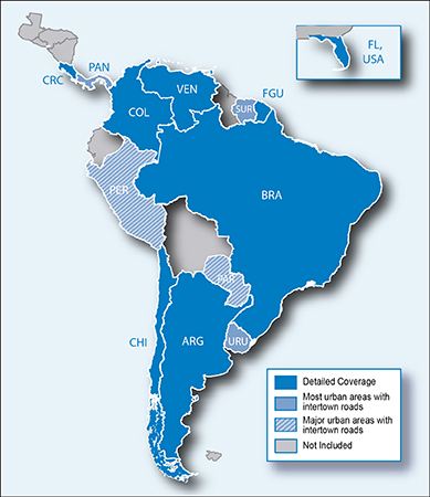 Features Detailed Maps For 12 South American Countries As Well As Florida In The U S Specifically