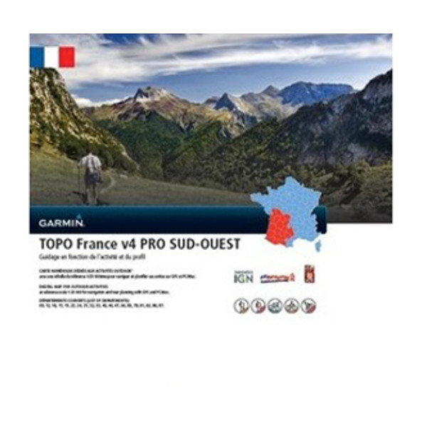 TOPO France v4 PRO - Sud Ouest (sydvest)