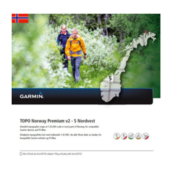 TOPO Norway Premium 5 - Nordvest