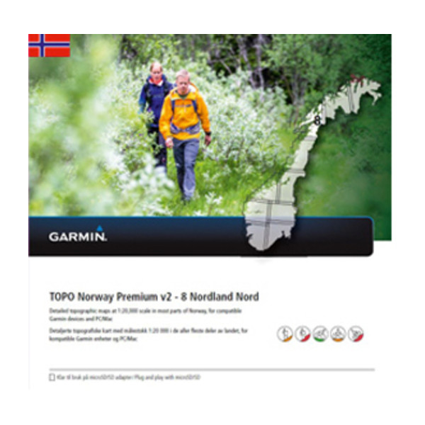 TOPO Norway Premium 8 - Nordland Nord