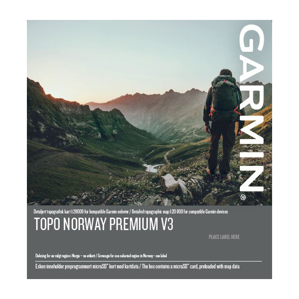 TOPO Norway Premium v3, Regione 8 - Nordland Nord
