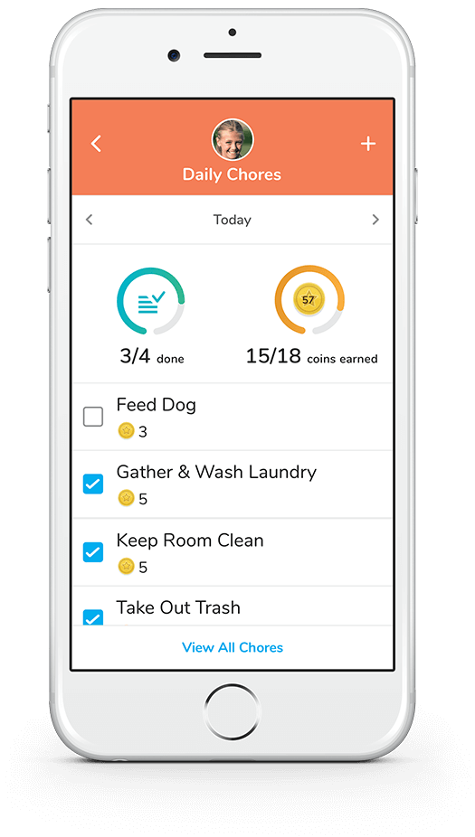 Take the fuss out of household responsibilities by letting the app do the work. Assign chores right from the app by choosing from a preloaded list or creating your own. Choose how many virtual coins each task is worth, and set them to recur daily or weekly. You can also set schedule alerts that appear on their devices to remind them — along with an icon. Kids can see on their band the number of completed tasks for the day and the number they still have to complete.
