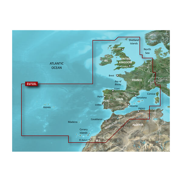 Europe Atlantic Coast Charts
