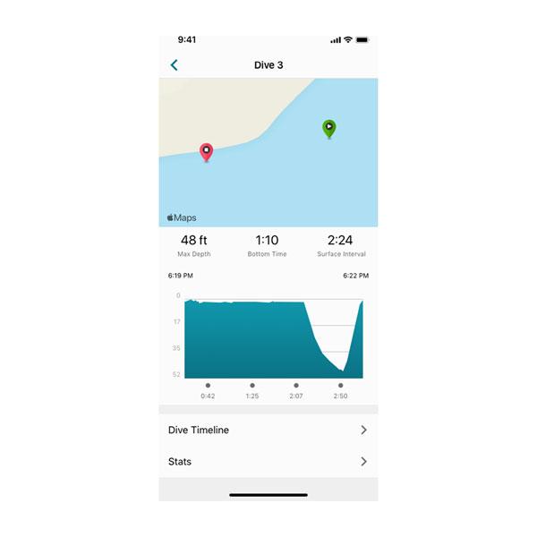 Aplikacja Garmin Dive 3