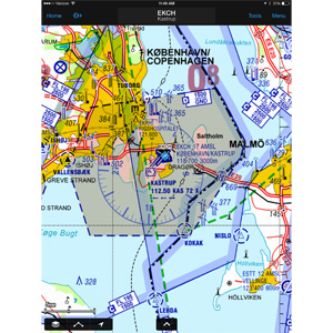 Europe VFR Charts without Germany (1 Year Garmin Pilot Add-on)