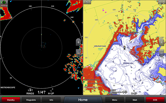 Dual range with radar overlay