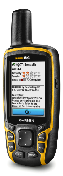Skrzynki w urządzeniu GPSMAP 64