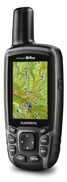 écran de carte GPSMAP 64st