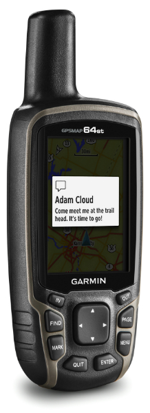 GPSMAP 64st notification screen