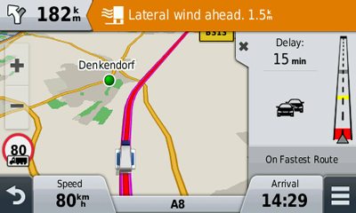 garmin dezlcam truck sat nav with built-in dash cam warnings
