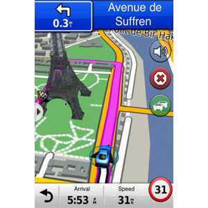 iPhone 4<sup>®</sup> Navigations-App und Designer-Autoset 5