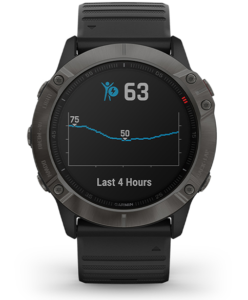 Monitor energii Body Battery w Garmin Fenix 6x