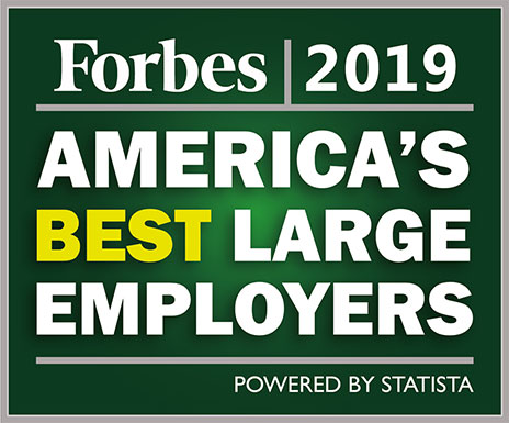 No. 5 on Forbes America's Best Large Employers 2019