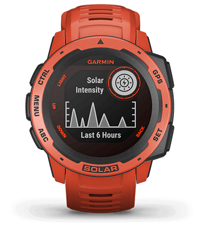 Garmin Instinct rugged outdoor smartwatches.