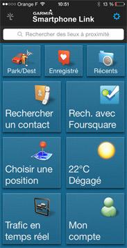 Accueil Smartphone Link sur smartphone