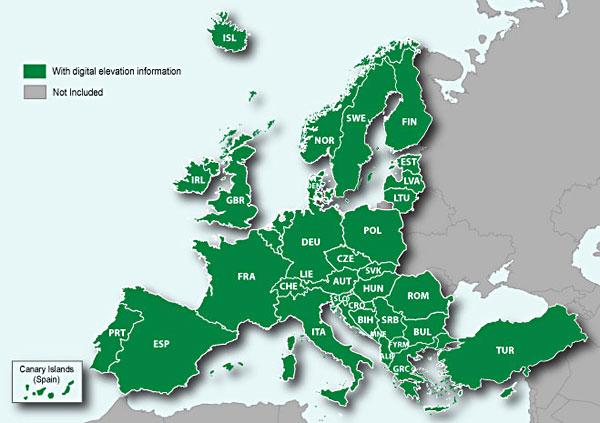 carte europe du sud garmin