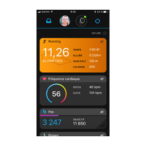 Application Garmin Connect 8