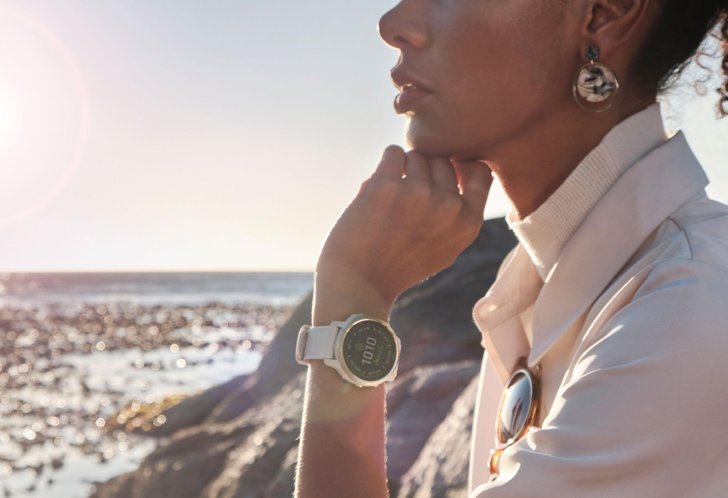 Stresslevel mit einer Garmin-Smartwatch im Auge behalten.